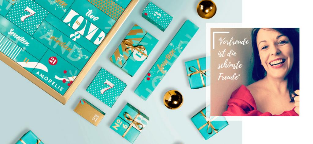 Was ist drin im Amorelie Adventskalender? Erlebe des Zauber und die Vorfreude auf das erste Türchen!