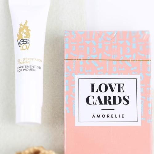 Amorelie Adventskalender 2015 Inhalt Amorelie Lovecards und YesforLove Stimulationsgel Tür 10 und Tür 12