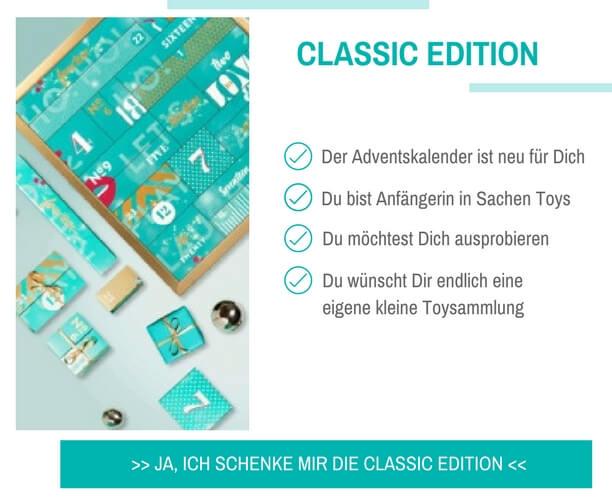 Ich möchte den Amorelie Adventskalender i2017 in der Classic Edition