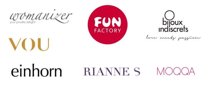 Die beliebtesten Marken im Amorelie Advetnskalender 2017 sind Fun Factory, Womanizer, VOU, einhorn, Rianne S, Moqqa und Bijoux Indiscrets