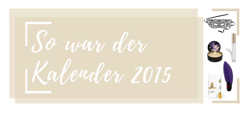 So war der Amorelie Adventskalender 2015 - entdecke den Inhalt aller Türchen des Kalenders von 2015