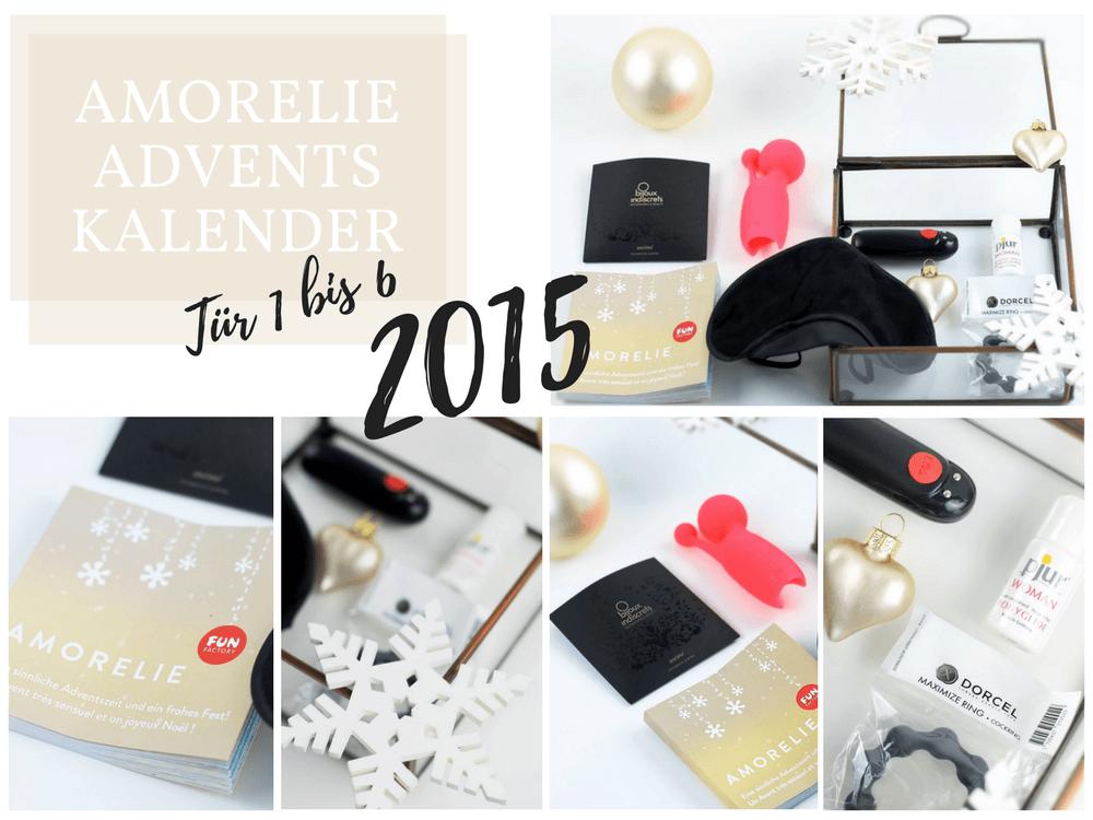 Amorelie Adventskalender 2015 Inhalt - Tür 1 bis 6 im Detail
