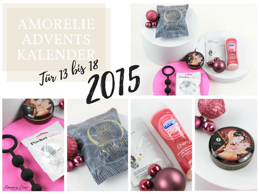 Amorelie Adventskalender 2015 Inhalt - Tür 13 bis 18 im Detail