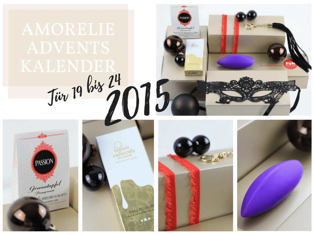 Amorelie Adventskalender 2015 Inhalt - Tür 19 bis 24 im Detail