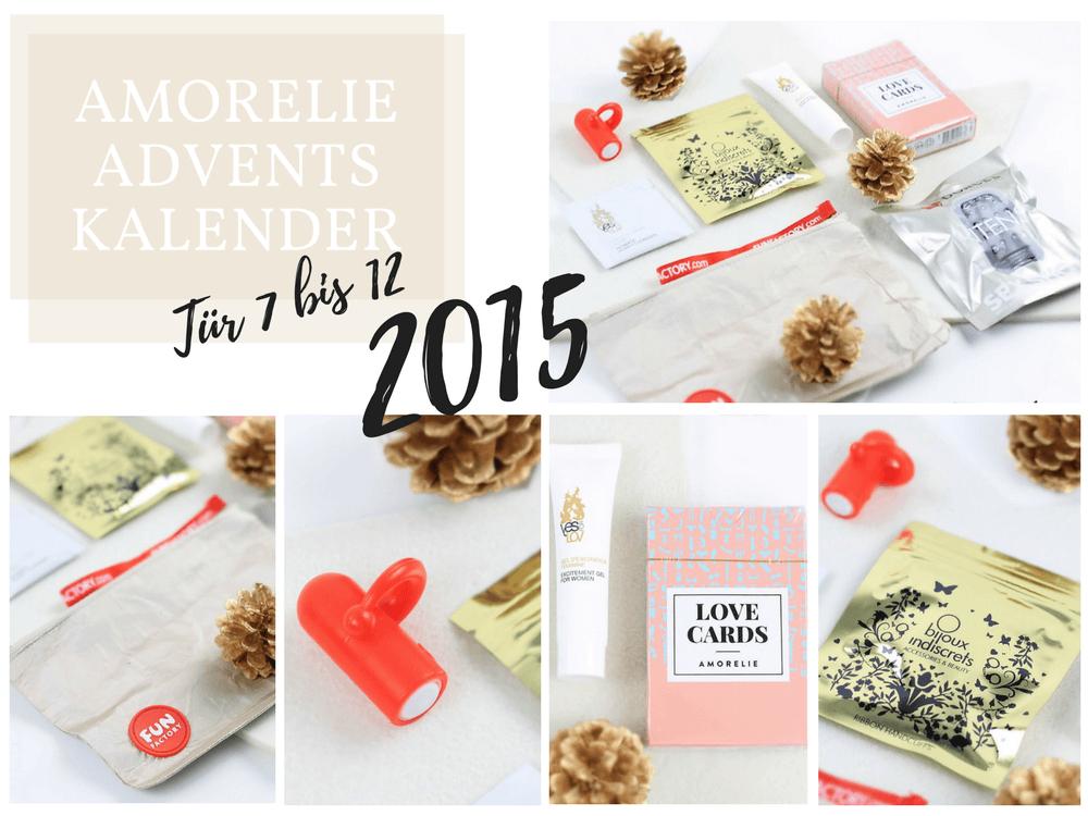 Amorelie Adventskalender 2015 Inhalt - Tür 7 bis 12 im Detail