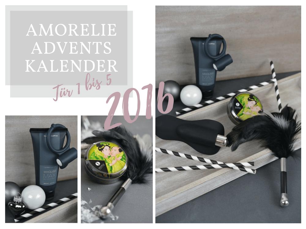 Amorelie Adventskalender 2016 Inhalt - Tür 1 bis 5 im Detail