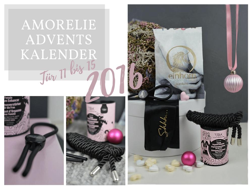 Amorelie Adventskalender 2016 Inhalt - Tür 11 bis 15 im Detail