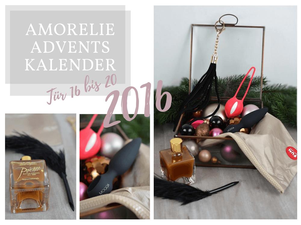 Amorelie Adventskalender 2016 Inhalt - Tür 16 bis 20 im Detail